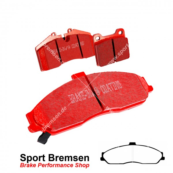 EBC Redstuff Keramik Bremsbeläge für Chevrolet Corvette C5 | 5.7 V8 vorne