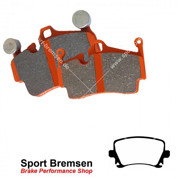EBC Orangestuff Racing Bremsbeläge für VW Passat R36 (3C) 4motion hinten