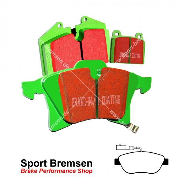 EBC Greenstuff Bremsbeläge für Fiat Abarth 500 595 695 Bosch Sattel vorne
