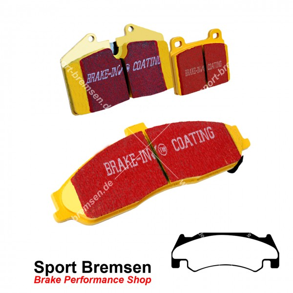 EBC Yellowstuff Bremsbeläge für Dodge RAM SRT 10 | 8.3 ab 2005 vorne