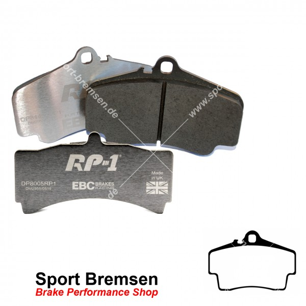 EBC RP-1 Racing Bremsbeläge für Porsche Boxster 3.4S (987II) 98635293910 hinten