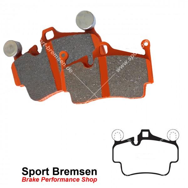 EBC Orangestuff Racing Bremsbeläge für Porsche Cayman 3.4S (987C) 217kW vorne