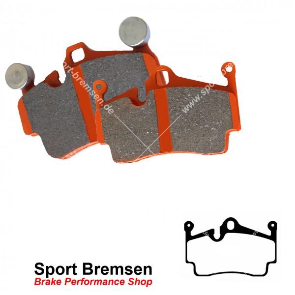 EBC Orangestuff Racing Bremsbeläge für Porsche Boxster 3.4S (987) 223kW 98735293901 hinten