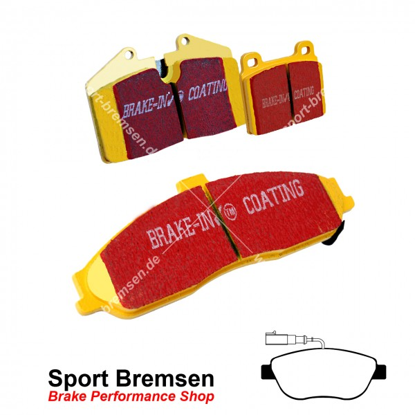 EBC Yellowstuff Bremsbeläge für Fiat Abarth 500 595 695 Bosch Sattel vorne