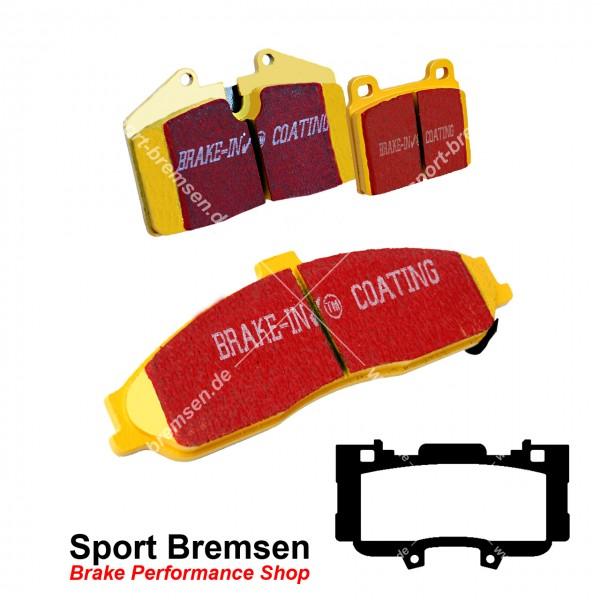 EBC Yellowstuff Bremsbeläge für Ford Mustang 6 | 3.7 V6 Performance Kit vorne