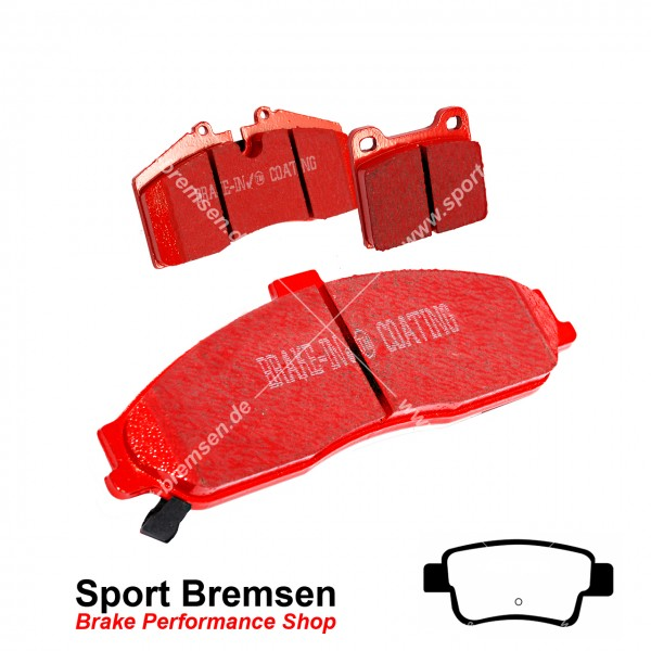 EBC Redstuff Keramik Bremsbeläge für Opel Corsa D 1.6 Turbo hinten