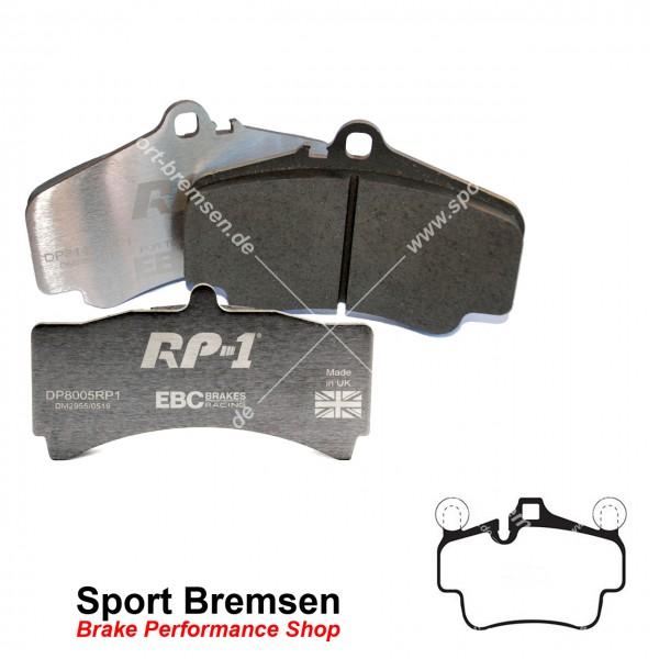 EBC RP-1 Racing Bremsbeläge für Porsche Boxster 3.4S (987) 223kW 99735193905 vorne
