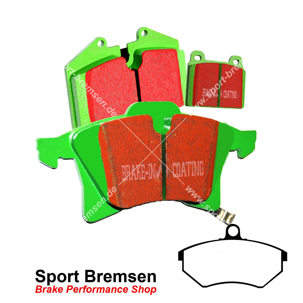 595 EBC Greenstuff Sportbremsbeläge Vorderachse DP21383 für Abarth 500