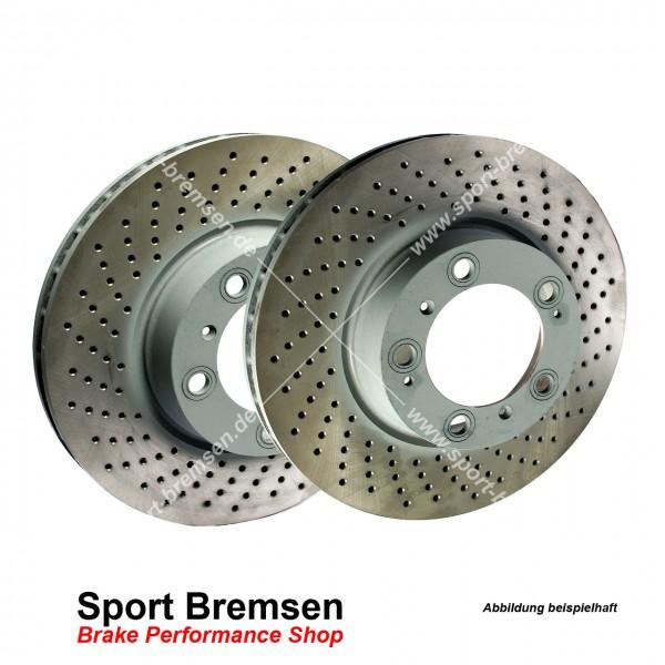 SEBRO Bremsscheiben Set für Porsche 911 Turbo 3.6 (997) 99735240502 0602 hinten 350x28mm