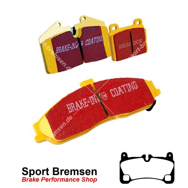 EBC Yellowstuff Bremsbeläge für Porsche Cayenne 4.8 GTS (9PA) 298kW hinten
