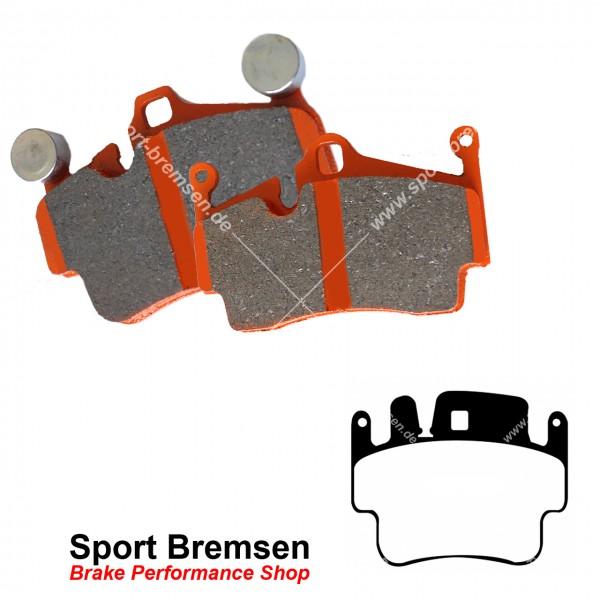 EBC Orangestuff Racing Bremsbeläge für Porsche Boxster 3.2S (986) vorne