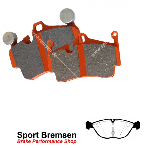 EBC Orangestuff Racing Bremsbeläge für Audi TT 3.2 VR6 (8N3 8N9) vorne