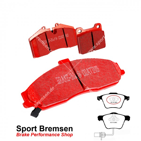 EBC Redstuff Keramik Bremsbeläge für Audi A4 S4 Quattro 4.2 V8 vorne