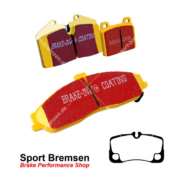 EBC Yellowstuff Bremsbeläge für Porsche 911 GT3 (997) 99735294905 hinten