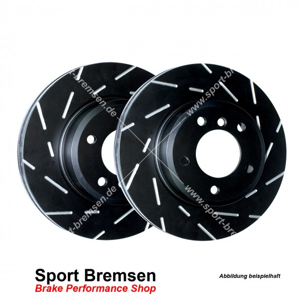 EBC Black Dash Sport Bremsscheiben für Dodge Challenger 6.4 SRT8 hinten 350x28mm