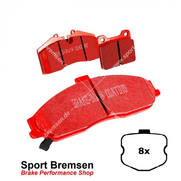 EBC Redstuff Keramik Bremsbeläge für Corvette C6   6.2 V8 Grande Sport (8 Stück) hinten