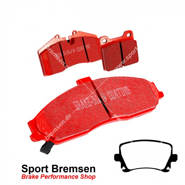 EBC Redstuff Keramik Bremsbeläge für Audi TT 3.2 V6 (8J3, 8J9) hinten