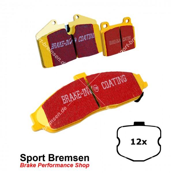 EBC Yellowstuff Bremsbeläge für Corvette C6 Z06 | 7.0 bis 2008 (12 Stück) vorne