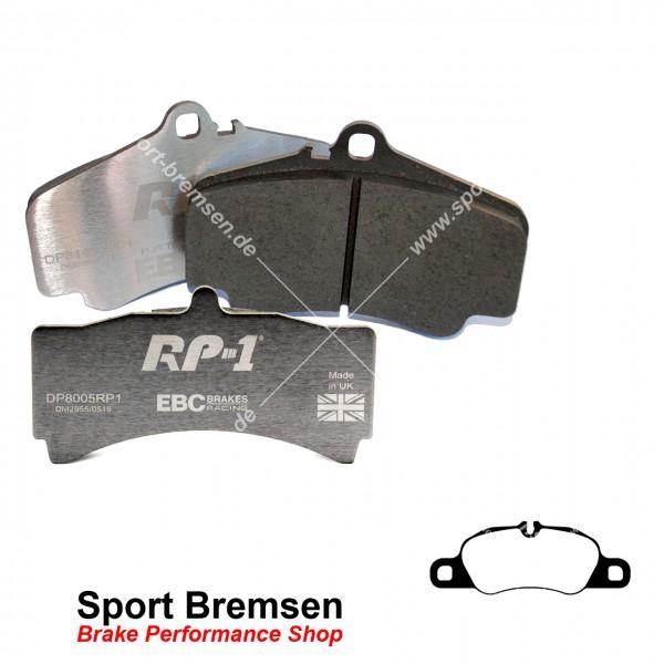 EBC RP-1 Racing Bremsbeläge für Porsche für Porsche Cayman 2.7 (981C) 99735193900 vorne