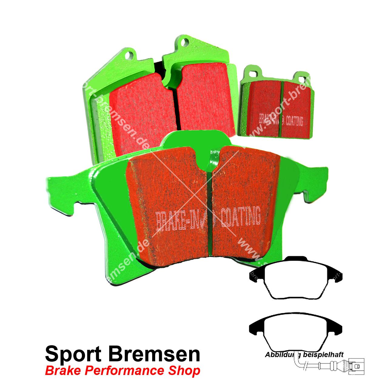 EBC Greenstuff Sportbremsbeläge Vorderachse DP21517 für VW Passat 6