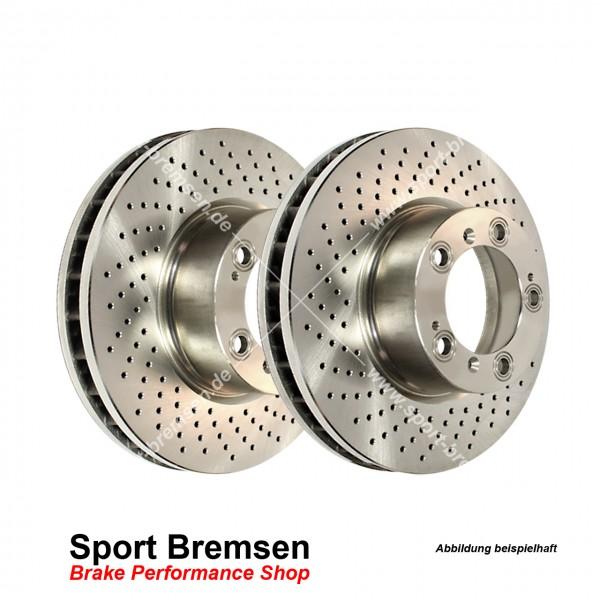 EBC Premium Bremsscheiben Set für Porsche Boxster 3.4S (987) 217kW 98635240301 hinten 299x24mm