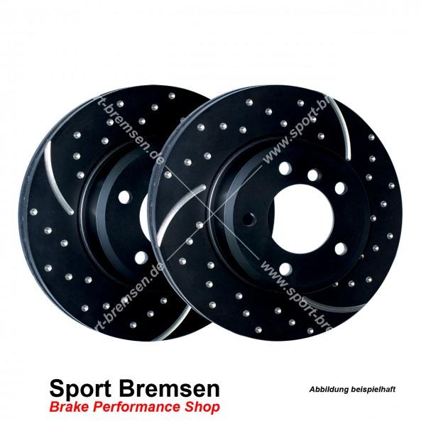 EBC Turbo Groove Sport Bremsscheiben für BMW 3er (e30) hinten 258x10mm