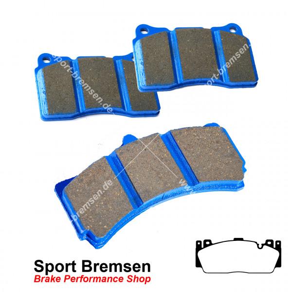EBC Racing Bluestuff NDX Bremsbeläge für BMW 6 Kolben M Performance Bremse rot vorne