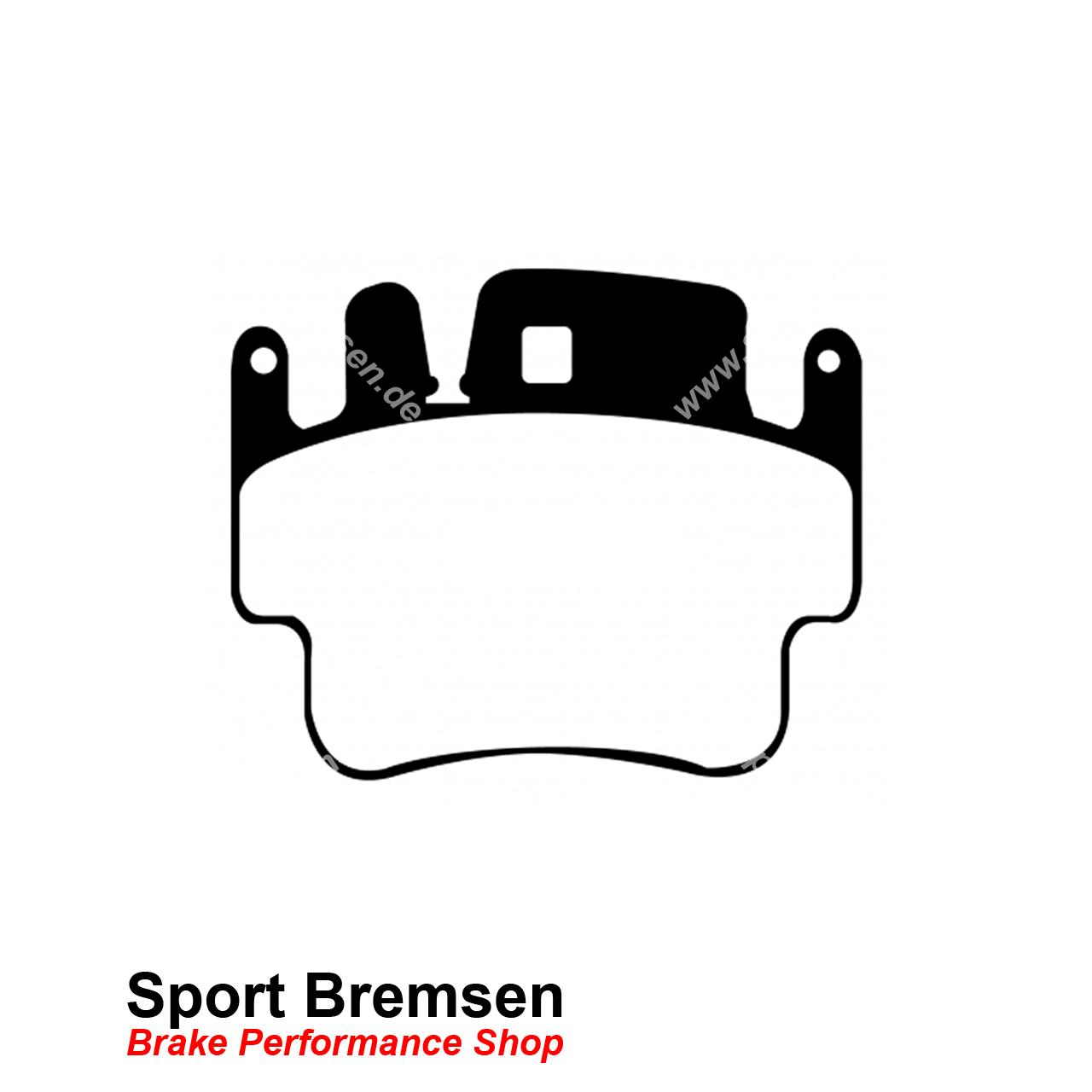 EBC Yellowstuff Sport-Bremsbeläge hinten,Hinterachse für Porsche für Porsche //DP