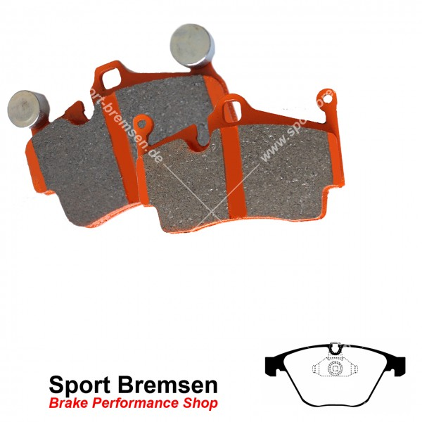 EBC Orangestuff Racing Bremsbeläge für BMW 1erM Coupé (e82) vorne