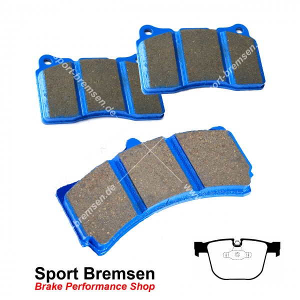 EBC Racing Bluestuff NDX Bremsbeläge für BMW 1erM Coupé (e82) hinten