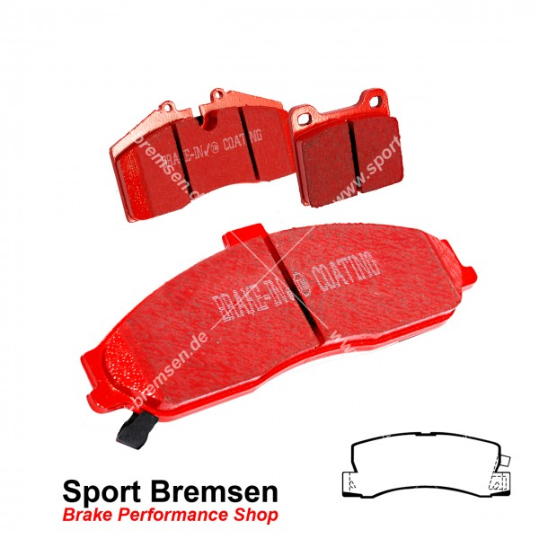 EBC Redstuff Keramik Bremsbeläge für Toyota Celica 5 (T18) 2.0 Turbo 4WD hinten