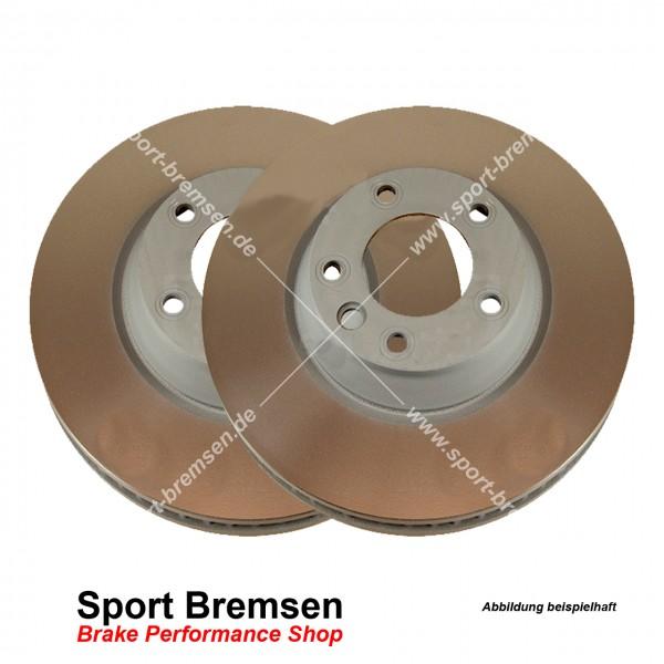 SEBRO Bremsscheiben Set für Porsche Cayenne (92A) 4.8 S 95535240131 hinten 330x28mm