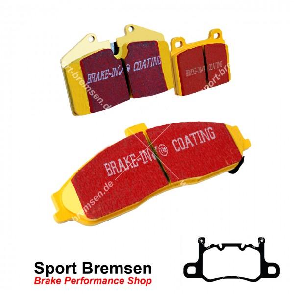 EBC Yellowstuff Bremsbeläge für Porsche Cayman GT4 (981) 99135294881 hinten