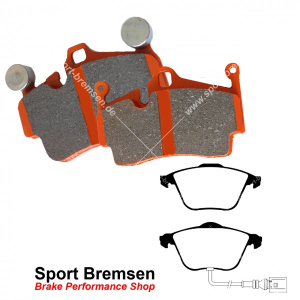 EBC Orangestuff Racing Bremsbeläge für Audi S3 Sportback 2.0 (8PA) vorne