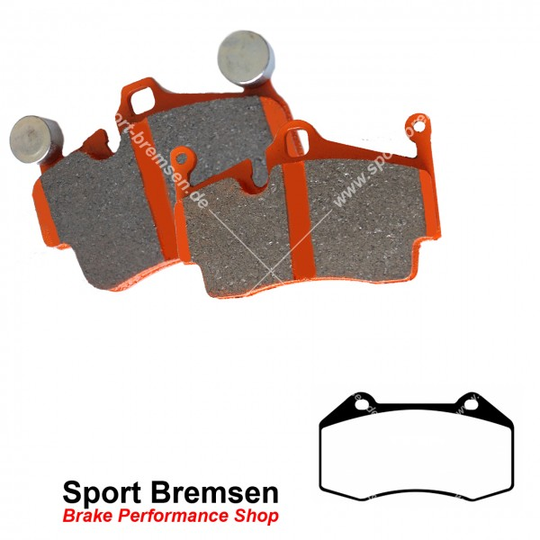 EBC Orangestuff Racing Bremsbeläge für Renault Megane II 2.0 vorne