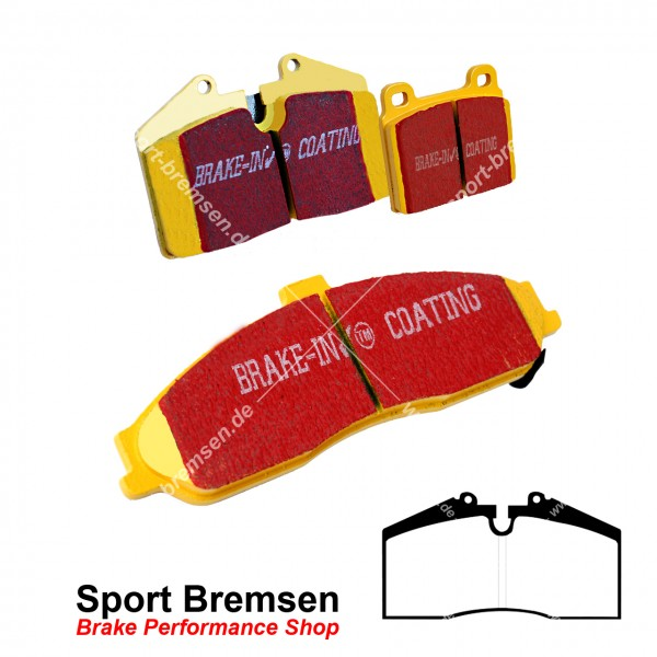 EBC Yellowstuff Bremsbeläge für Porsche 911 (993) 3.8 Carrera 99335193901 vorne